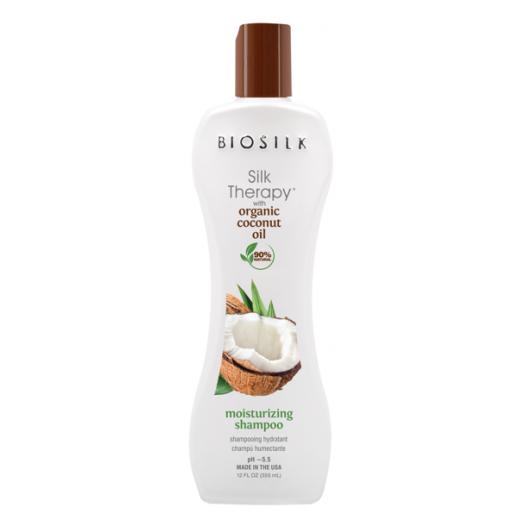 BioSilk Silk Therapy with Organic Coconut Oil Moisturizing Shampoo    (Matu šampūns)