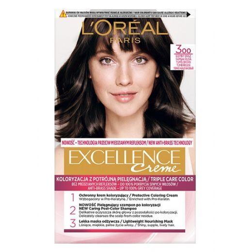 L'Oreal Paris Excellence Hair Color 300  (Matu krāsa)