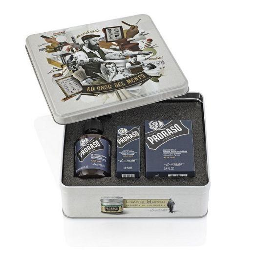 """Proraso Beard Kit Azur & Lime  (Bārdas kopšanas komplekts vīriešiem """"piparmētra un laims&am"""