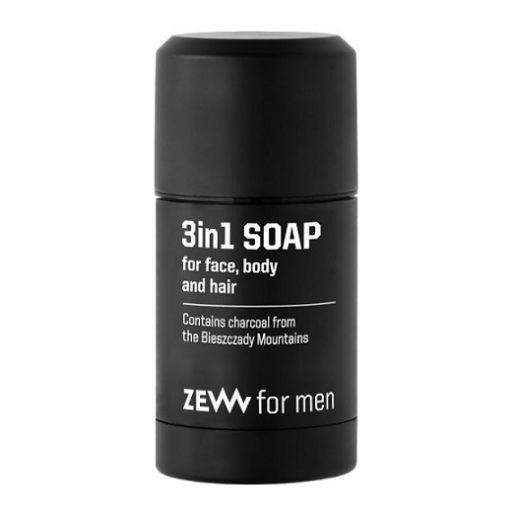 ZEW for Men 3in1 Soap  (Dabīgas 3 vienā ziepes sejai)