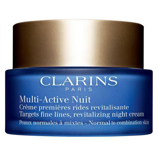 Clarins Multi - Active Nuit Normal to Combination Skin (Nakts sejas krēms pret pirmajām novecošanas
