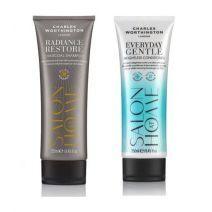 Charles Worthington Charcoal Shampoo + Everyday Conditioner  (Matu kopšanas komplekts)