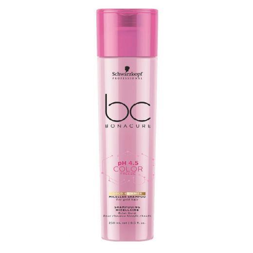 Schwarzkopf BC Bonacure pH 4.5 Color Freeze Gold Shimmer Micellar Shampoo  (Zelta spīduma micelārais