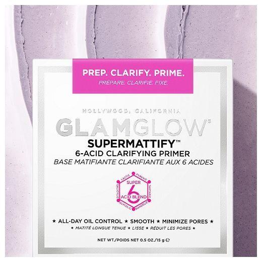 GlamGlow Supermattify 6-Acid Clarifying Primer  (Grima bāze)
