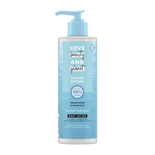 Love Beauty and Planet Ocean Body Lotion  (Jūras aļģu un eikalipta ķermeņa losjons)