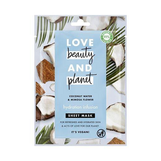 Love Beauty and Planet Coconut Water & Mimosa Flower Face Sheet Mask   (Mitrinoša sejas maska)