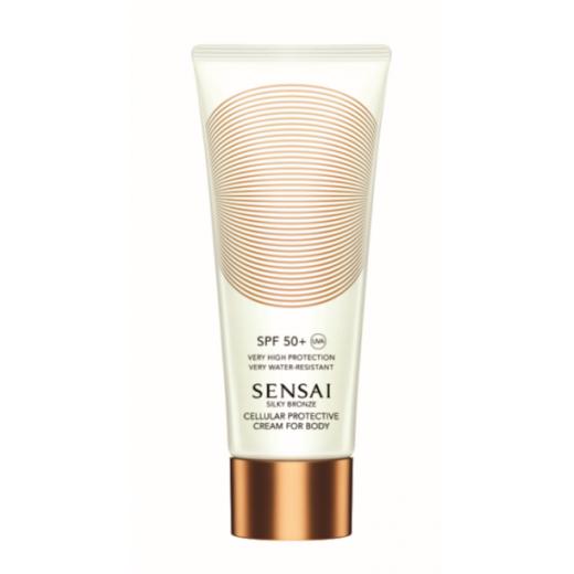 Sensai Silky Bronze Cellular Protective Cream for Body SPF 50+  (Sauļošanās aizsargkrēms ķērmenim SP