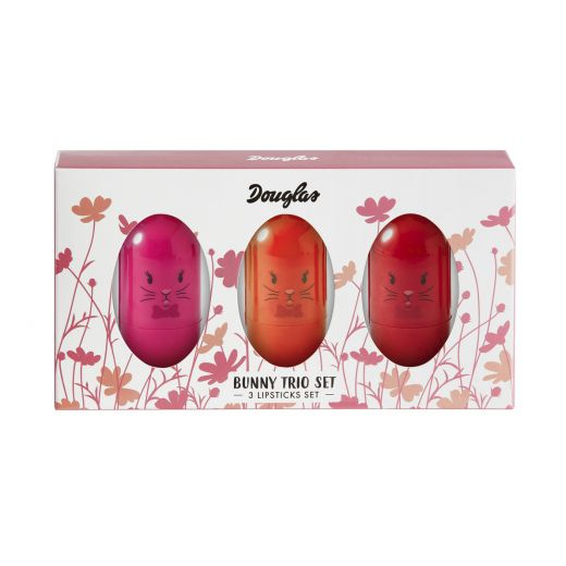Douglas Make Up Bunny Trio Set  (Lūpu krāsu komplekts)