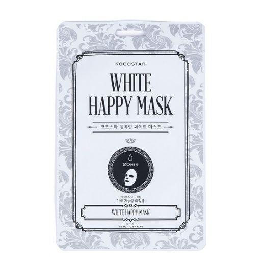 Kocostar White Happy Mask  (Balinoša sejas maskas)