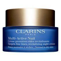 Clarins Multi - Active Nuit Normal to Dry Skin (Nakts sejas krēms pret pirmajām novecošanas pazīmēm)