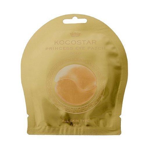 Kocostar Princess Eye Patch Gold 1 Pair  (Atsvaidzinoša un mitrinoša hidrogēla maska acu zonai)