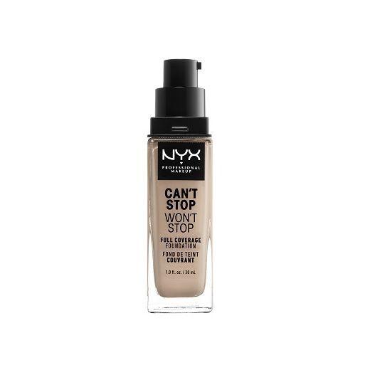 NYX Professional Makeup Can`t Stop Wan`t Stop Full Coverage Foundation  (Pilnīgas sedzamības tonālai