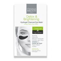 Christian Breton Detox & Brightening Hydrogel Charcoal Eye Mask  (Attīroša, mirdzumu atjaunojoša