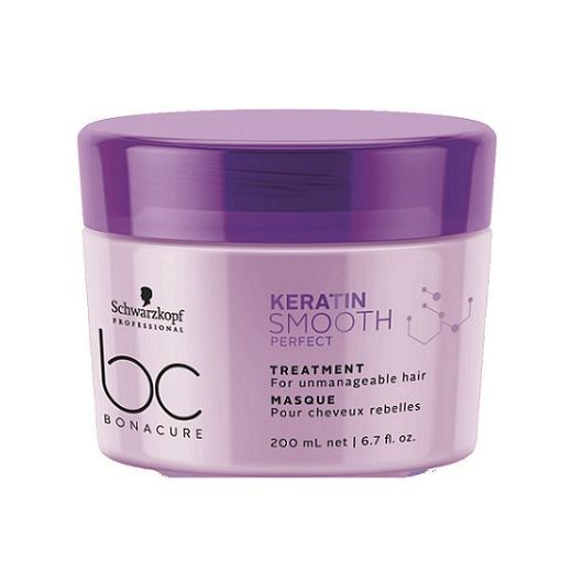 Schwarzkopf BC Bonacure Keratin Smooth Perfect Treatment Masque   (Maska matu nogludināšanai)