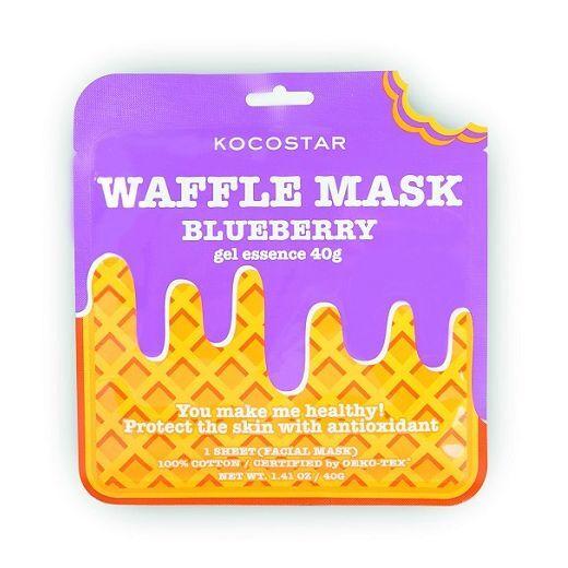 Kocostar Waffle Mask Blueberry  (Antioksidantu sejas maska)