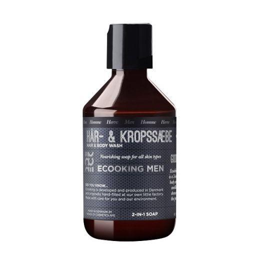 Ecooking Men Hair & Body Shampoo  (Matu un ķermeņa šampūns vīrietim)