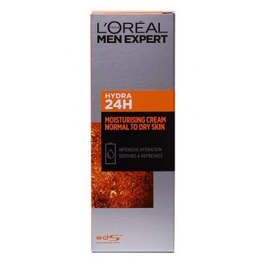 L'Oreal Paris Men Expert Hydra 24H Moisturising Cream for Normal To Dry Skin  (Mitrinošs krēms
