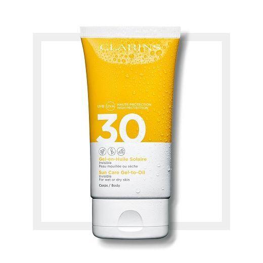 Clarins Sun Care Gel-to-Oil Body SPF 30  (Eļļas - gēla aizsargkrēms ķermenim SPF 30)