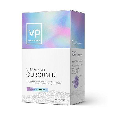 VPlab Curcumin + D3 500 mg  (Uztura bagātinātājs)