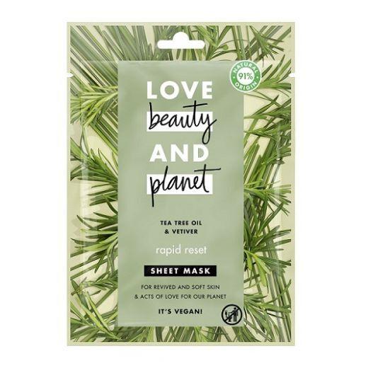 Love Beauty and Planet Rosemary & Vetiver Face Sheet Mask   (Attīroša sejas maska)