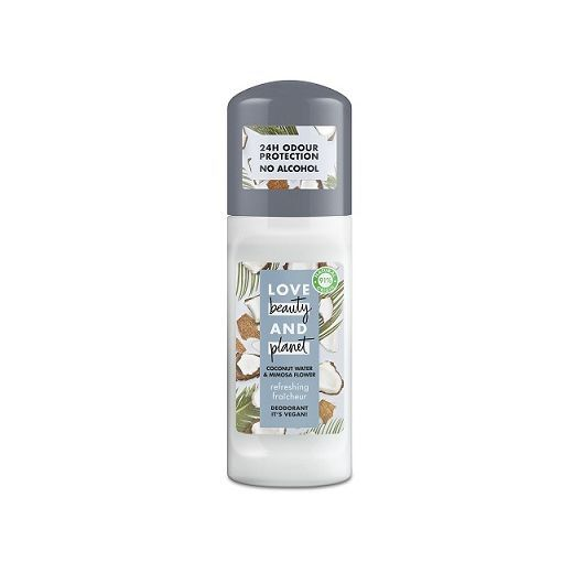 Love Beauty and Planet Coconut Water & Mimosa Flower Roll-On  (Dezodorants rullītis)