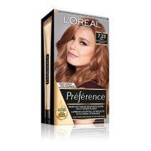 L'Oreal Paris Preference Hair Color 7.23 Dark Rose Gold  (Matu krāsa)