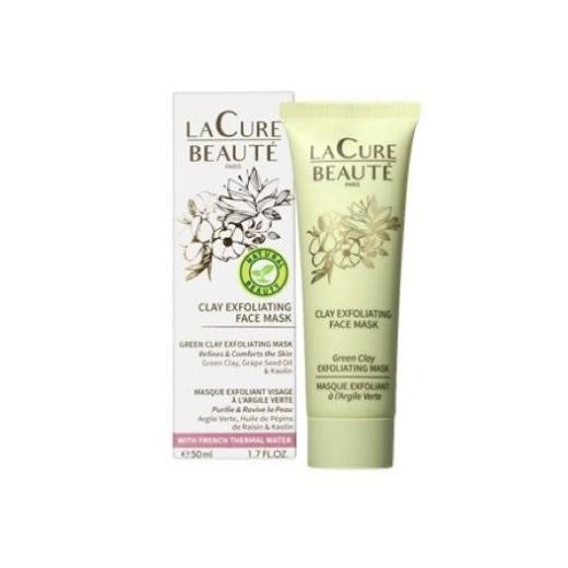 La Cure Beauté Cley Exfoliating Face Mask  (Pīlinga māla maska)