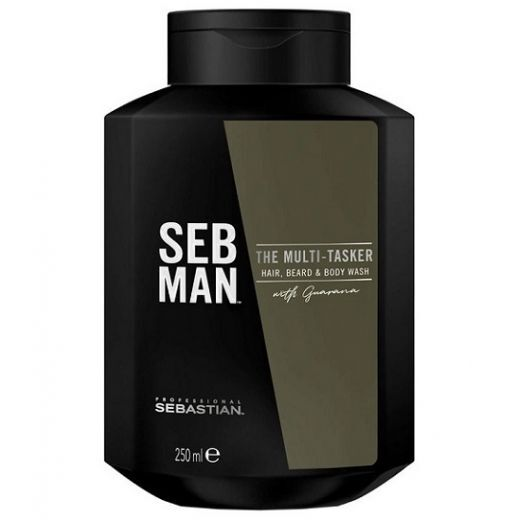 Sebastian Professional Seb Man The Multi -Tasker Hair, Beard & Body Wash Gel  (Šampūns matiem, b