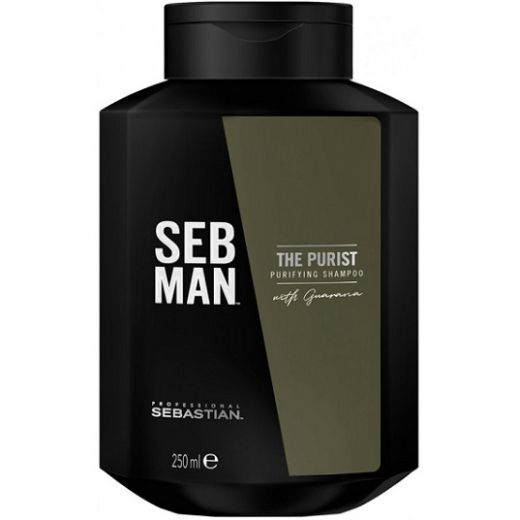 Sebastian Professional Seb Man The Purist Shampoo  (Attīrošs šampūns vīrietim)