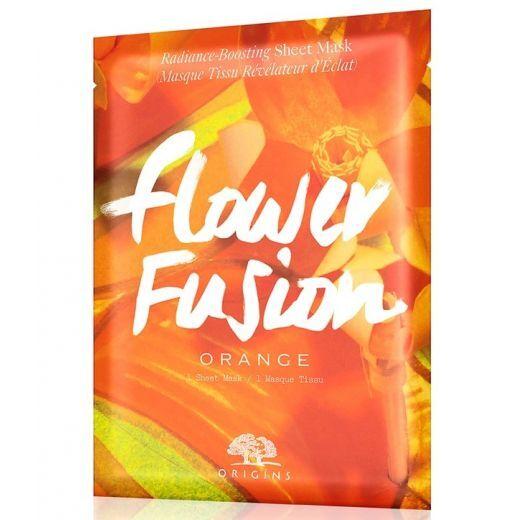 Origins Flower Fusion™ Hydrating Sheet Mask Orange  (Sejas toni uzlabojoša sejas maska)