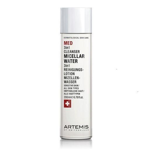 Artemis MED 3 in 1 Cleanser Micellar Water 200 ml  (Daudzfunkcionālais micelārais ūdens)