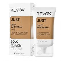 REVOX Just Daily Sun Shield UVA+UVB Filters SPF 50+ With Hyaluronic Acid