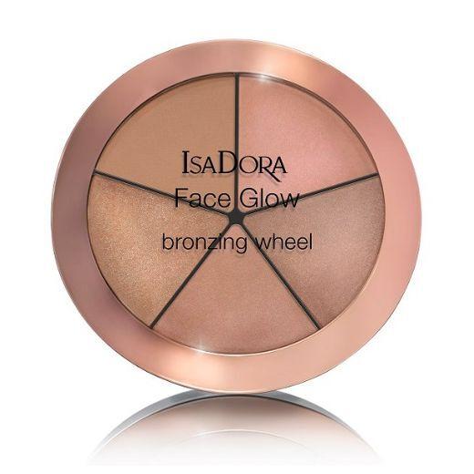 IsaDora Face Glow Bronzing Wheel  (Iedeguma efekta palete sejai)
