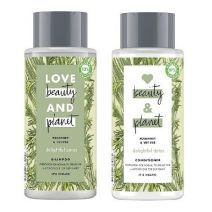 Love Beauty and Planet Rosemary & Vetiver Shampoo + Rosemary & Vetiver Conditioner   (Matu k