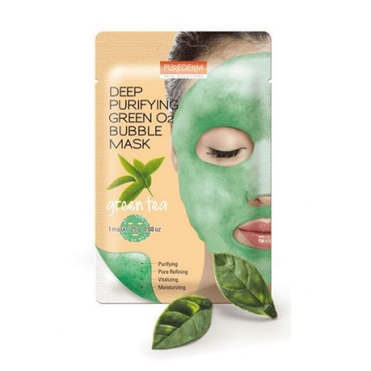 Purederm Bubble Mask Green  (Dziļi attīroša sejas maska)