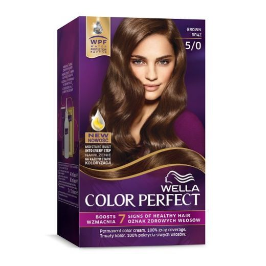 Wella Color Perfect 5/0 Brown  (Matu krāsa)