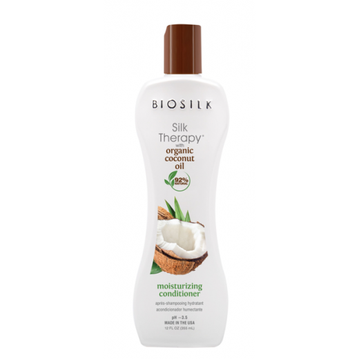 BioSilk Silk Therapy With Organic Coconut Oil Moisturizing Conditioner    (Matu kondicionieris)