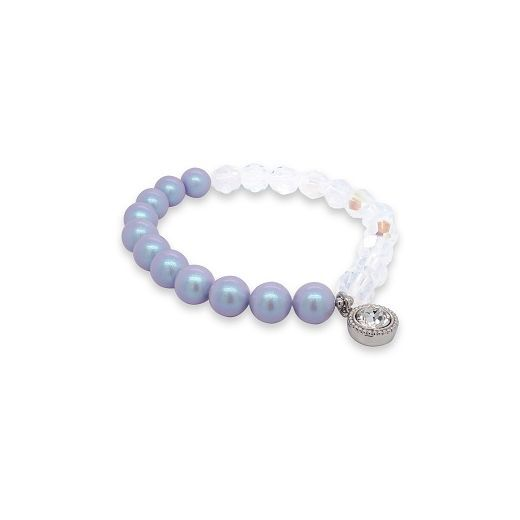 Marmara Sterling Blue Crystal-Pearl Bracelet  (Rokassprādze ar pērlēm un kristāliem)