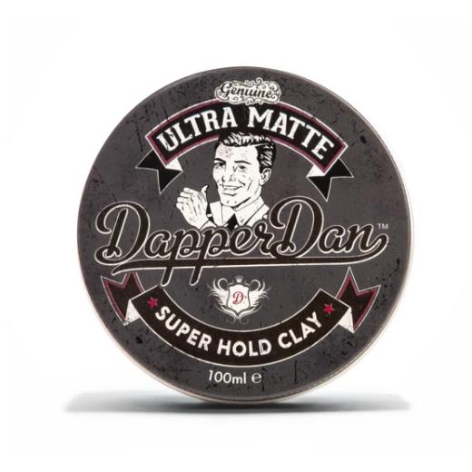 Dapper Dan Ultra Matte Super Hold Clay  (Stipras fiksācijas māli ar ultra matējošu efektu)