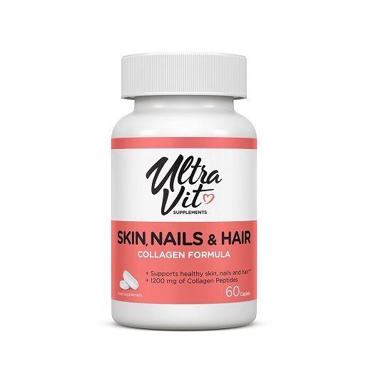Ultravit Skin, Nails & Hair 60 Caplets  (Uztura bagātinātājs)