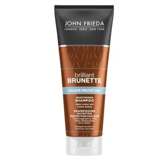John Frieda Brilliant Brunette Colour Protecting Moisturising Shampoo (Mitrinošs šampūns)