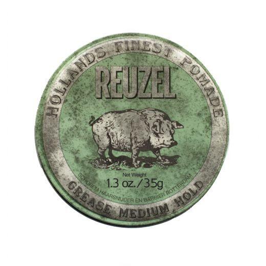 Reuzel Green Medium Hold Grease   (Vasks matiem stiprai fiksācijai)