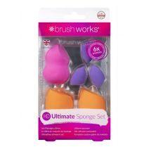 BrushWorks Ultimate Sponge Set  (Kosmētikas sūklīšu koplekts)