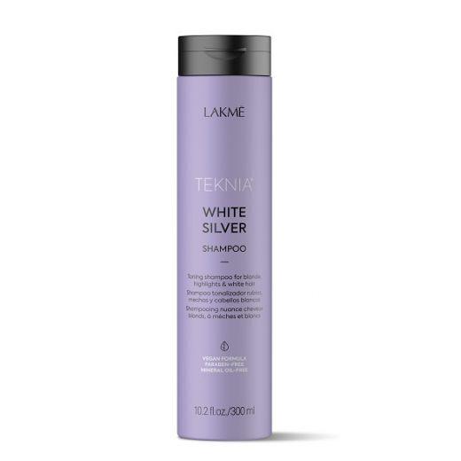 Lakmé Teknia White Silver Shampoo  (Tonējošs šampūns blondiem matiem)