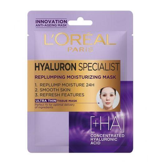L'Oreal Paris Hyaluron Specialist Tissue Mask  (Auduma maska)
