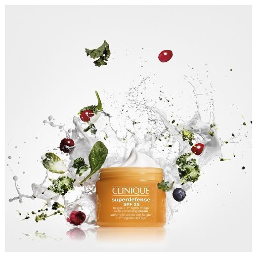 Clinique Superdefense SPF 25 Fatigue + 1st Signs of Age Multi-Correcting Cream For Dry Skin  (Atsvai