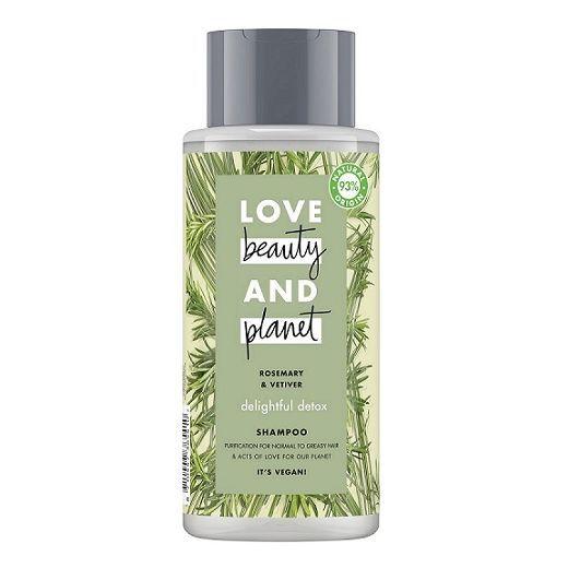 Love Beauty and Planet Rosemary & Vetiver Shampoo  (Dziļi attīrošs šampūns matiem)
