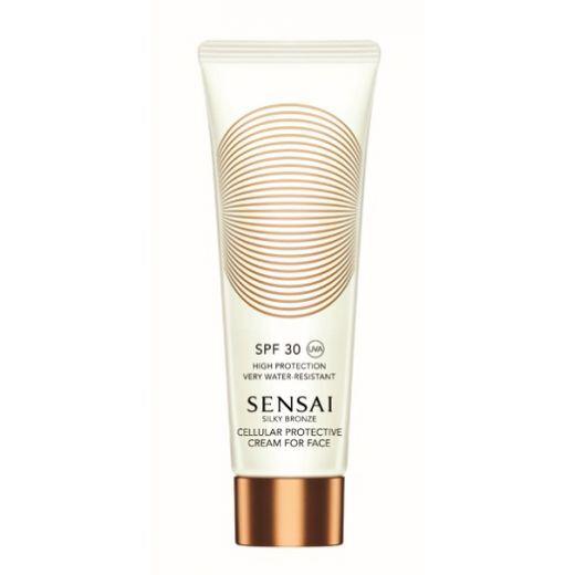 Sensai Silky Bronze Cellular Protective Cream for Face SPF 30  (Sauļošanās aizsargkrēms sejai SPF 30