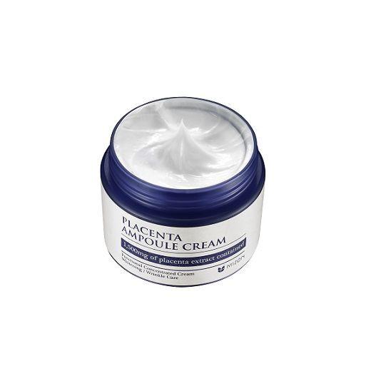 Mizon Placenta Ampoule Cream  (Pretnovecošanās, nostiprinošs un barojošs krēms ar placentu)