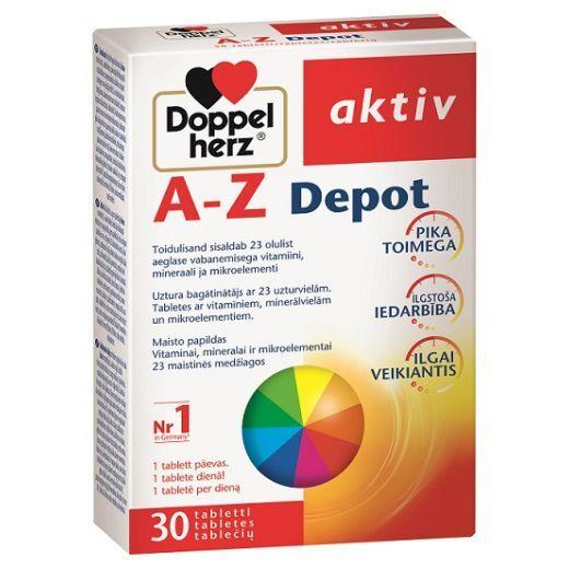 Doppelherz Aktiv A-Z  (Tabletes ar vitamīniem, minerālvielām un mikroelementiem)